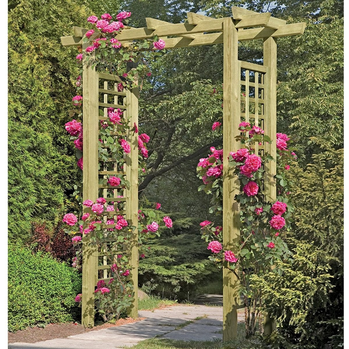 Rosenbogen Holz  Die Schönsten Bögen Im Überblick ← von Rosenbogen Aus Holz Selber Bauen Photo