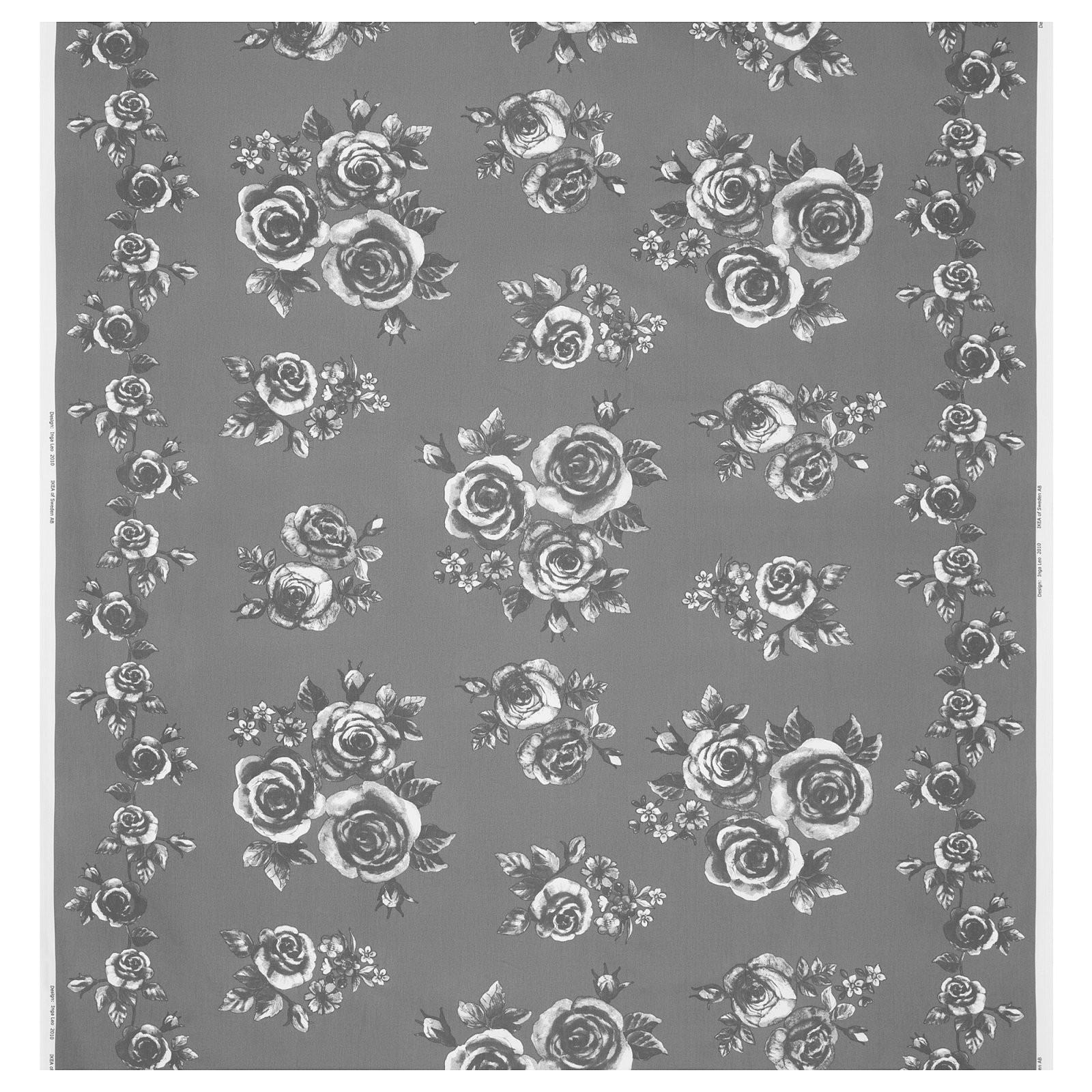 Rosmarie Meterware  Grauweiß  Ikea von Ikea Bettwäsche Grau Weiß Photo