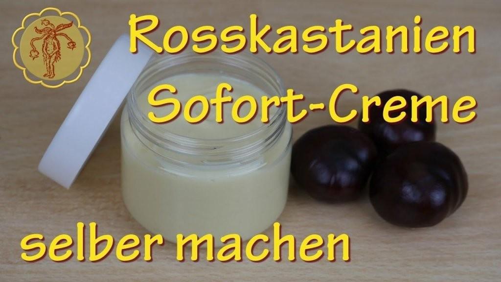 Rosskastaniensofortcreme Selber Machen  Gegen Krampfadern 2 von Lavendel Creme Selber Machen Photo