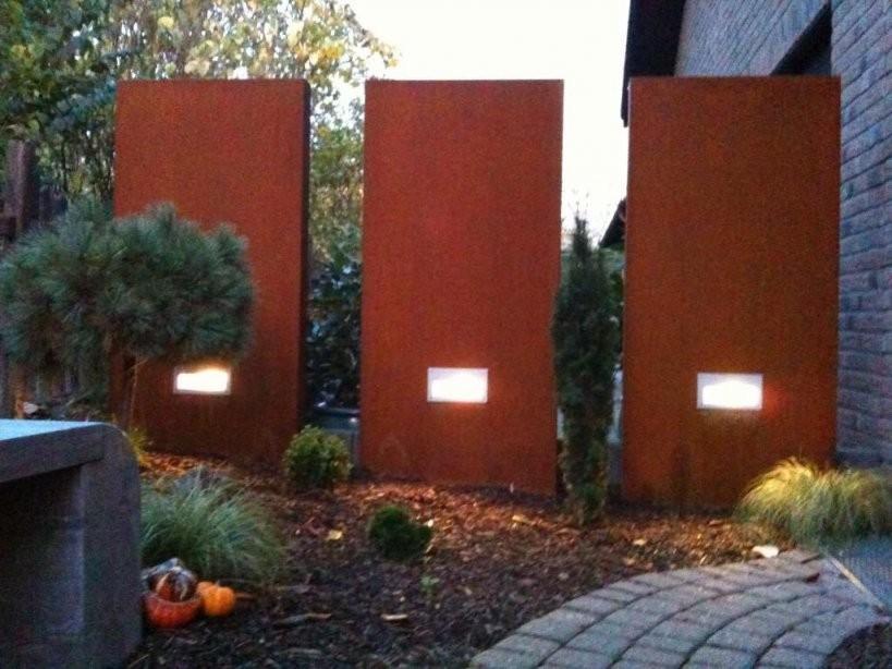 Rost Garten  Wir Liefern Auch Stelen Inkl Hausnummern von Sichtschutz Garten Metall Rost Bild