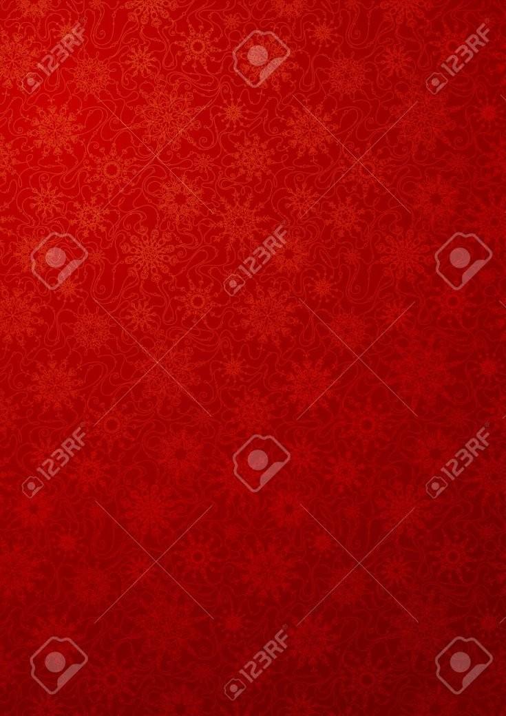 Rote Tapete Mit Schneeflocken Muster Mit Verzierten Schneeflocken von Rote Tapete Mit Muster Photo