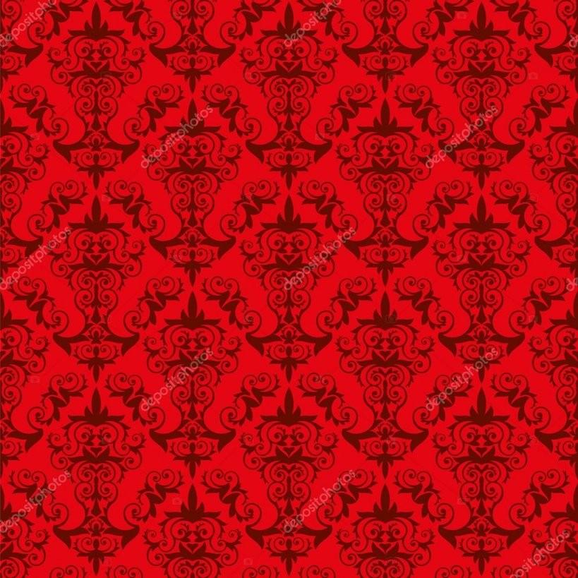 Rote Tapete Muster — Stockvektor © Furian 51484507 von Rote Tapete Mit Muster Bild