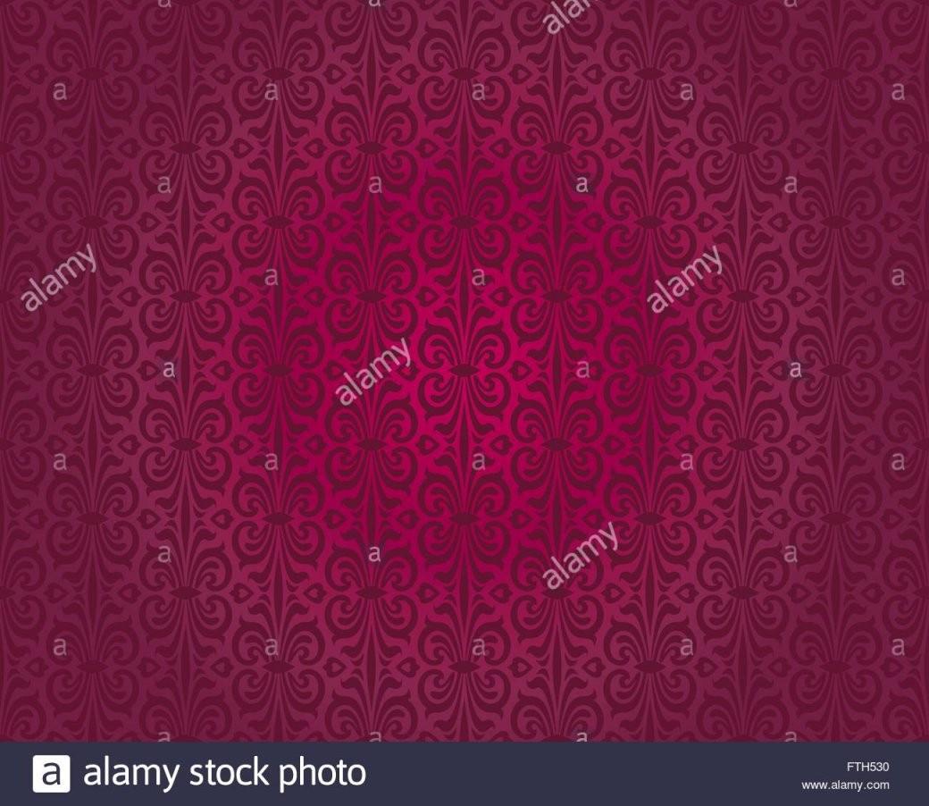 Rote Vintage Tapete Muster Vektor Nahtlose Hintergrunddesign Vektor von Rote Tapete Mit Muster Photo