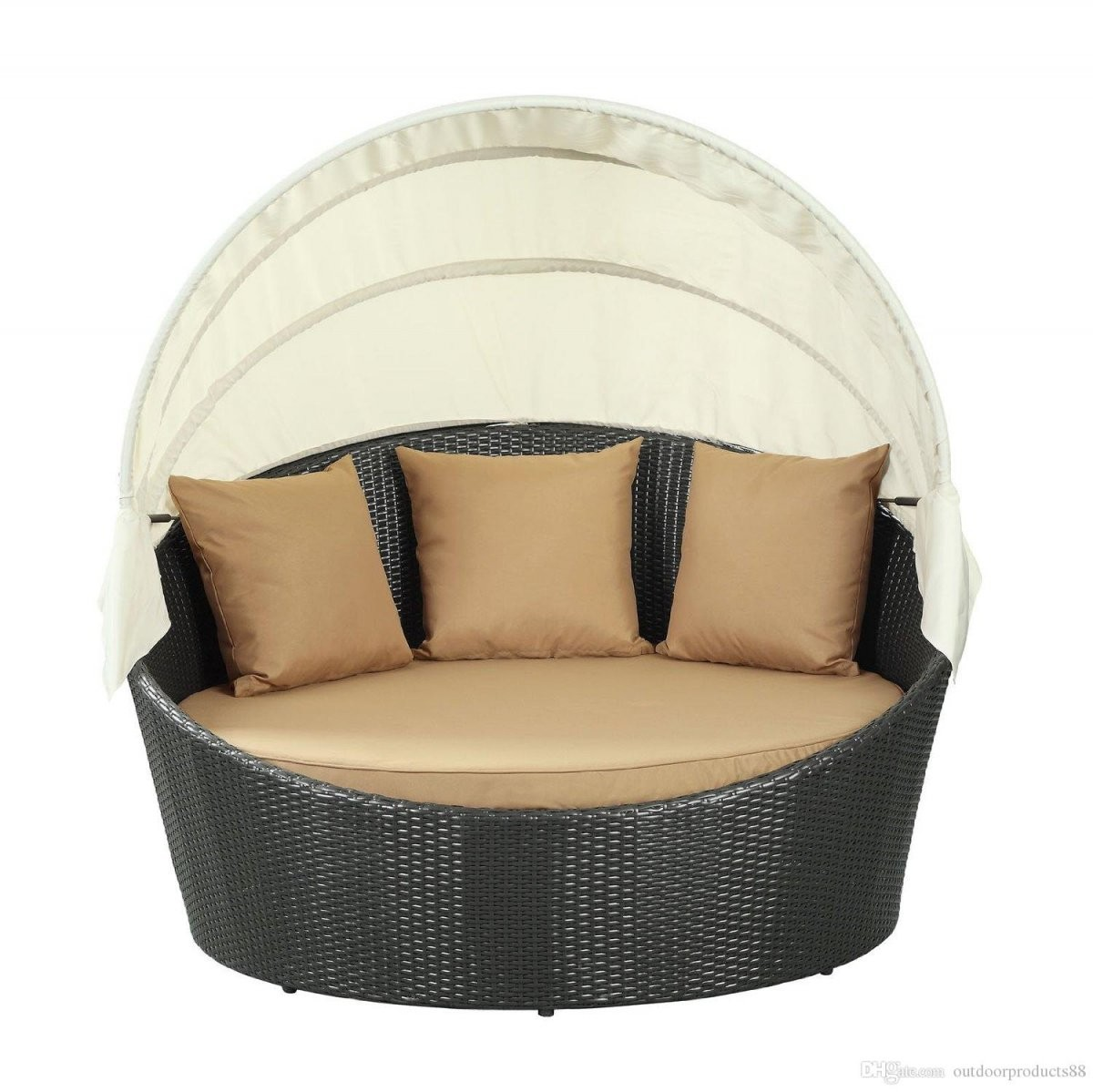 Round Swing Bed Round Rattan Swing Bed Porch And Garden – Title von Round Rattan Swing Bed Bild