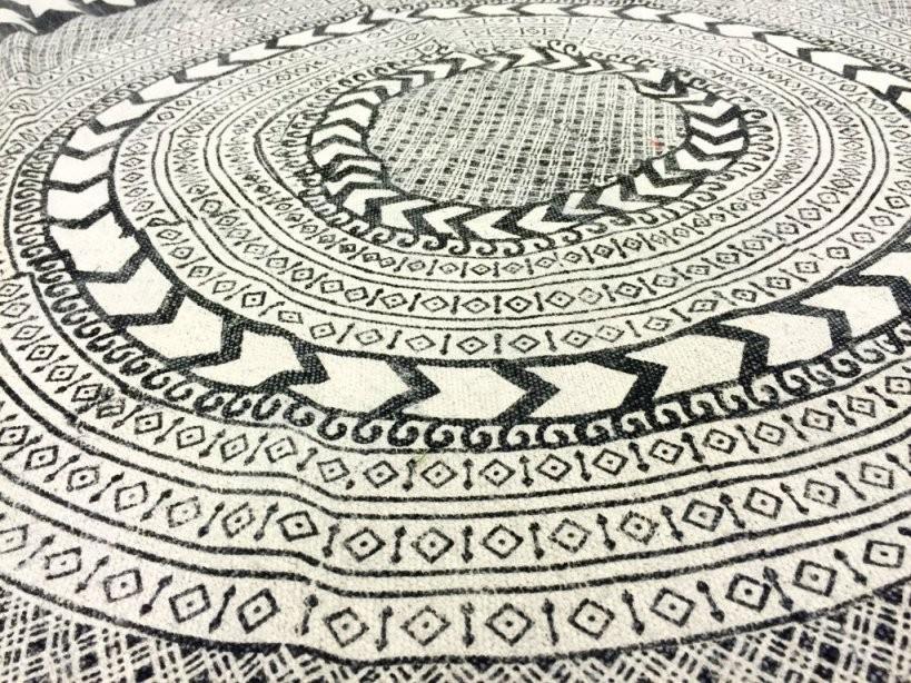 Rund Teppich 120 Cm  Marrakech (Rund) (Schwarzgrauweiß) von Teppich Rund Schwarz Weiß Bild