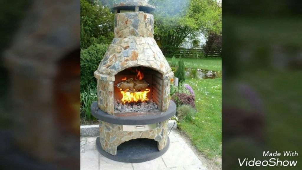 Rustikale Grill Und Feuerstellen Selber Bauen  Youtube von Gartenkamin Grill Selber Bauen Photo