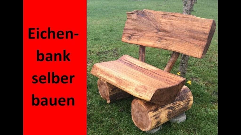 Rustikale Holzbank Selber Bauen  Massive Eichenbank Für Den von Rustikale Holzbank Selber Bauen Bild