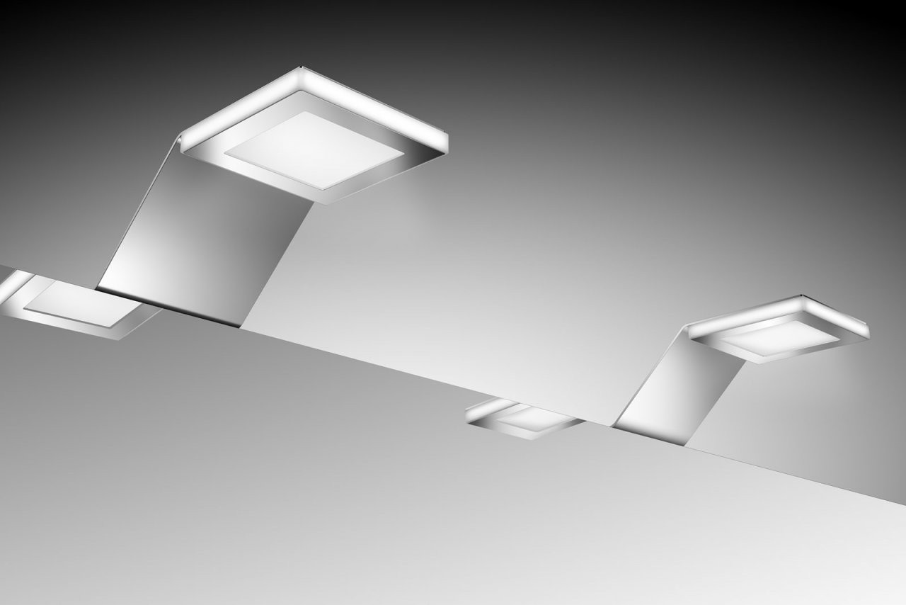 Sam® Badezimmer Spiegelschrank Beleuchtung Led2Er Set von Bad Spiegelschrank Led Leuchte Bild