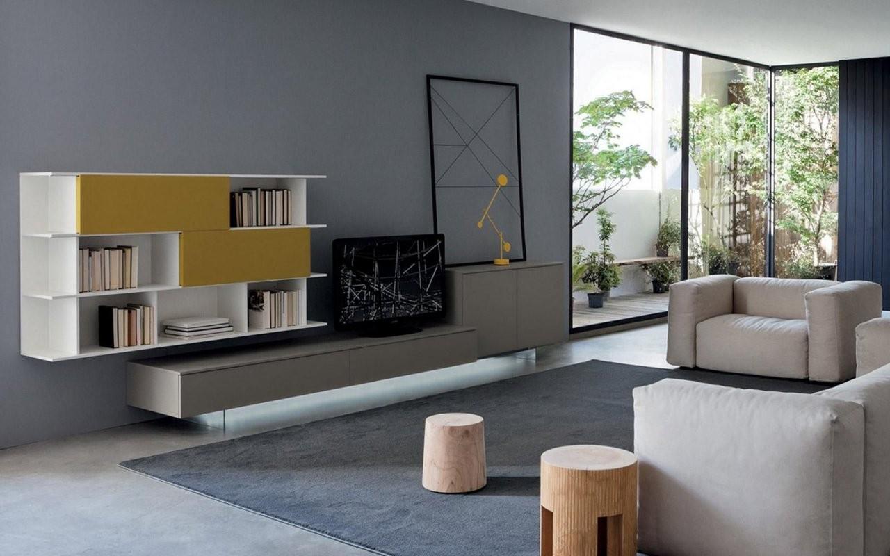 San Giacomo Tv Wand Lampo L210  Modernes Wohnen  Decor Design von San Giacomo Möbel Italien Bild