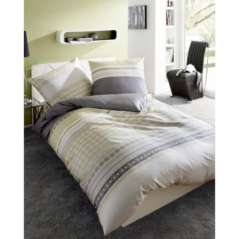 Satinbettwäsche (155X220 Grau)  Dänisches Bettenlager von Bettwäsche Dänisches Bettenlager Bild