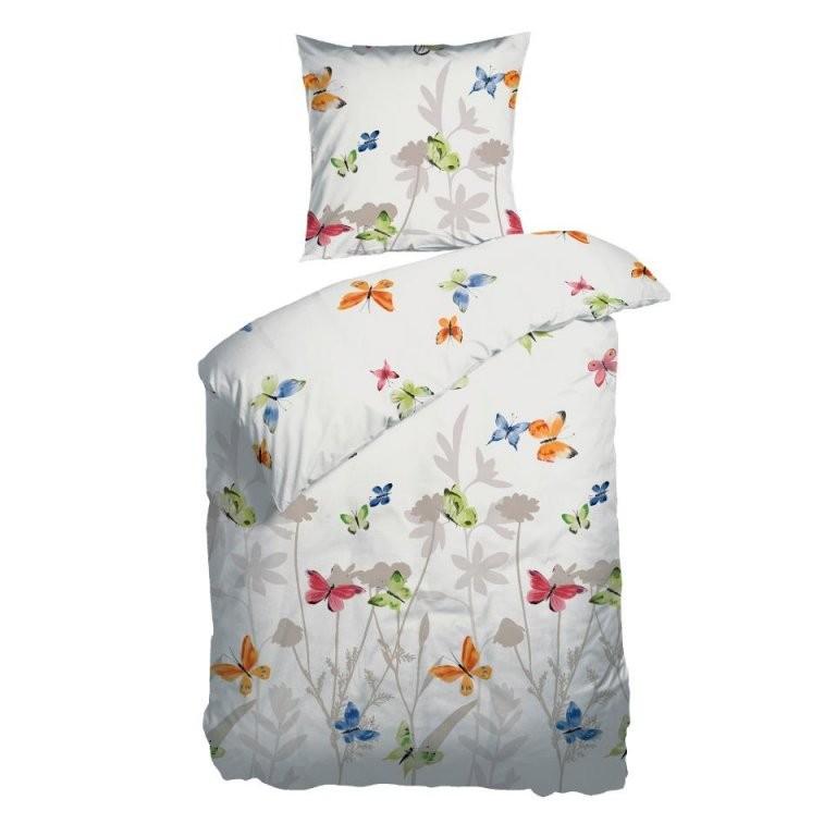 Satinbettwäsche Butterflies (155X220)  Dänisches Bettenlager von Glanz Satin Bettwäsche 155X220 Bild