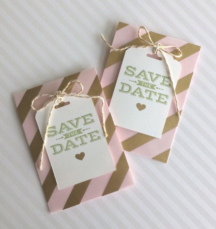 Savethedatekarte Selbstgemacht – Anleitung von Save The Date Karten Basteln Bild