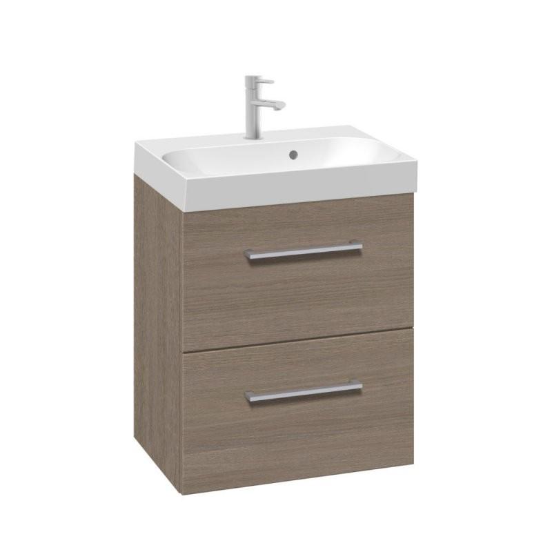 Scanbad Multo+ Gästebad Waschtisch Mit Unterschrank Graudekor 50Cm von Waschtisch Mit Unterschrank 50 Cm Bild