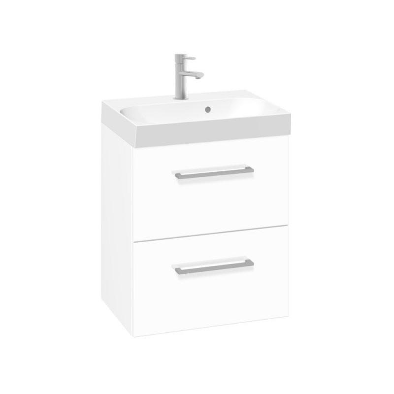 Scanbad Multo+ Gästebad Waschtisch Mit Unterschrank Weißhochglanz von Waschtisch Mit Unterschrank 50 Cm Bild