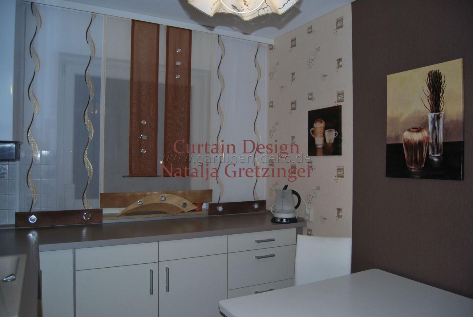 Schiebe Gardine Im Modernen Design Für Die Küche  Gardinendeko von Moderne Gardinen Für Die Küche Bild
