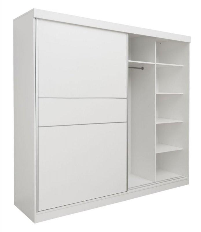 Schiebetürenschrank  Kleiderschrank Bermeo 02 Farbe Weiß  220 X von Kleiderschrank Weiß Lila Mit Spiegel Bild