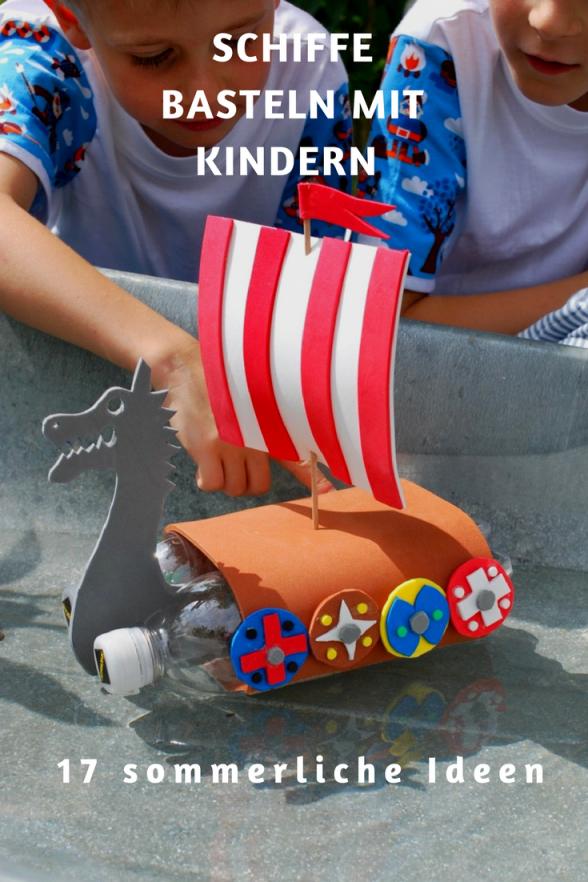 Schiffe Basteln Mit Kindern Ist Eine Tolle Bastelidee Rund Ums von Boote Basteln Mit Kindern Photo