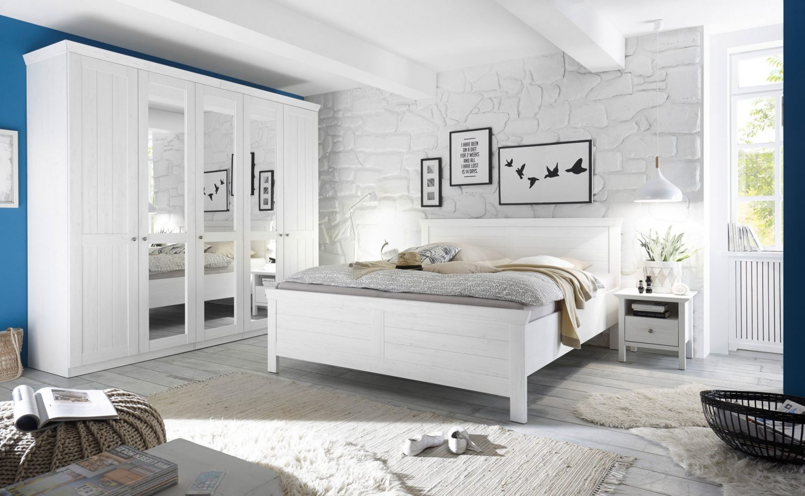 Schlafkontor Bellevue Landhaus Schlafzimmer Modern  Möbel Letz von Schlafzimmer Im Landhausstil Weiß Photo