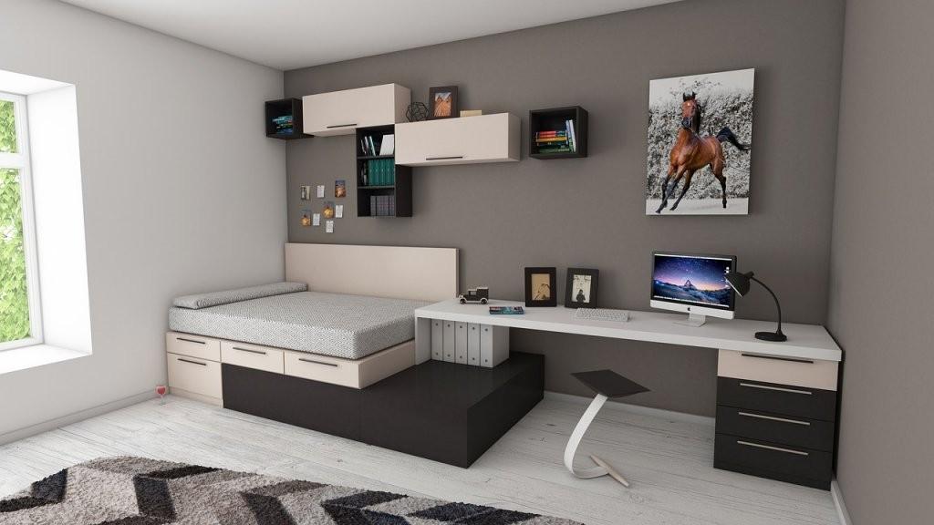 Schlafzimmer Für Studenten Einrichten  Gestalten  Betten Informiert von Jugendzimmer Mit Dachschräge Einrichten Photo