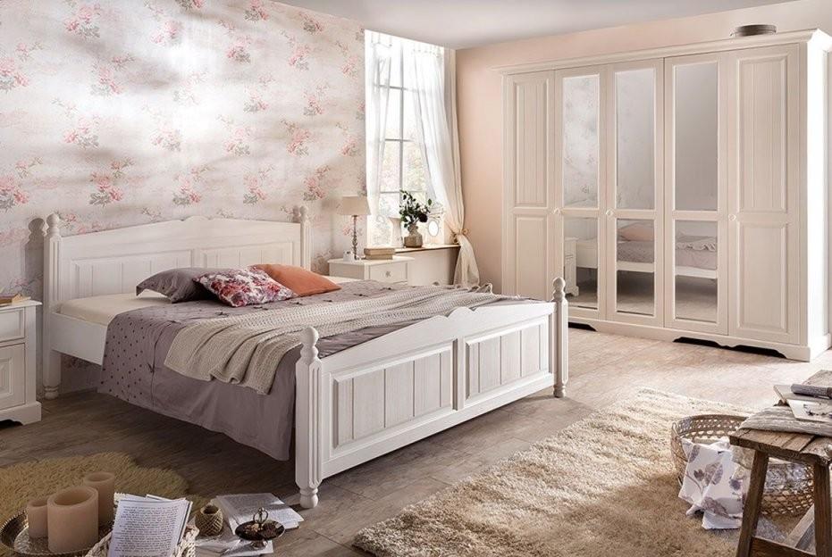 Schlafzimmer Landhausstil  Pisa  Kiefer Teilmassiv  P02 von Schlafzimmer Im Landhausstil Weiß Bild