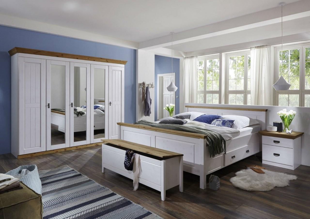 Schlafzimmer Landhausstil Weiß Gelaugt Komplettset Von Harri Günstig von Schlafzimmer Im Landhausstil Weiß Photo