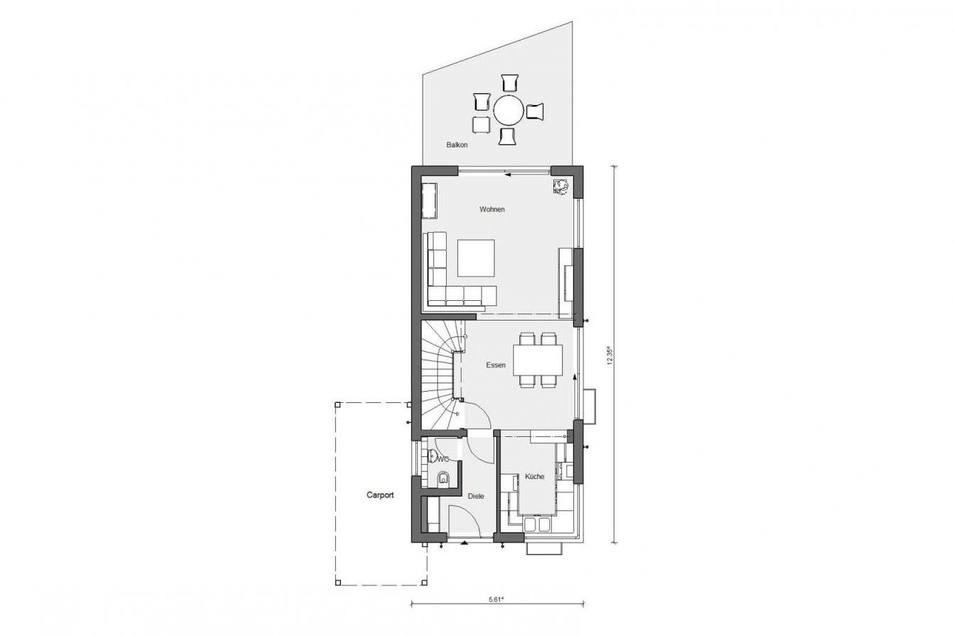 Schmales Hauskonzept  E 151502  Schwörerhaus von Langes Schmales Haus Grundriss Bild