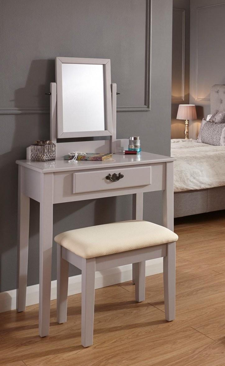 Schminktischset Sheila Mit Spiegel  Zuhause Schlafzimmer von Schminktisch Modern Mit Spiegel Photo