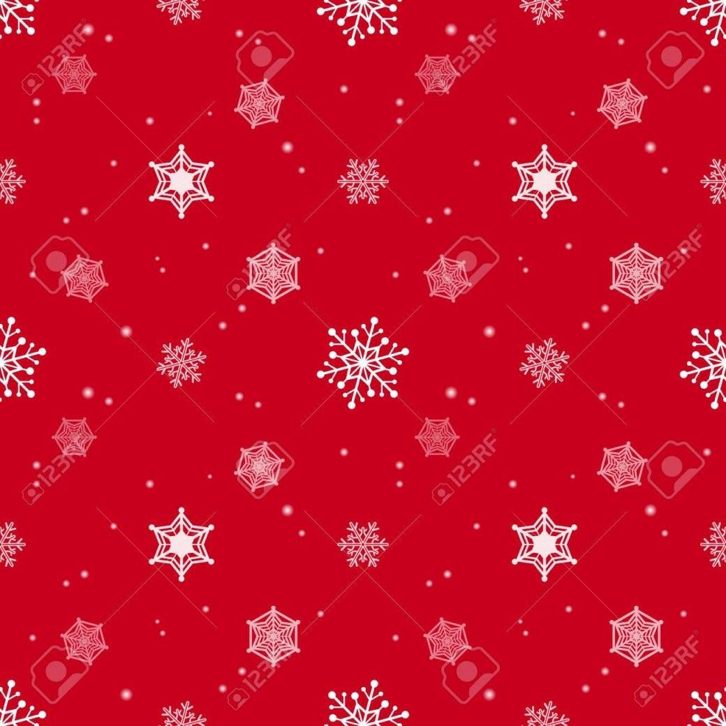 Schneeflocke Rote Farbe Hintergrund Tapeten Weihnachten Muster von Rote Tapete Mit Muster Bild