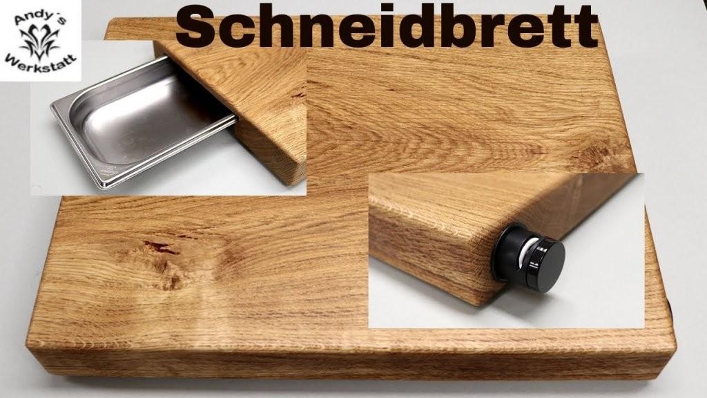 Schneidbrett Selber Bauen Mit Auffangschale  Messerschärfer  Diy von Vesperbrett Holz Selber Machen Photo