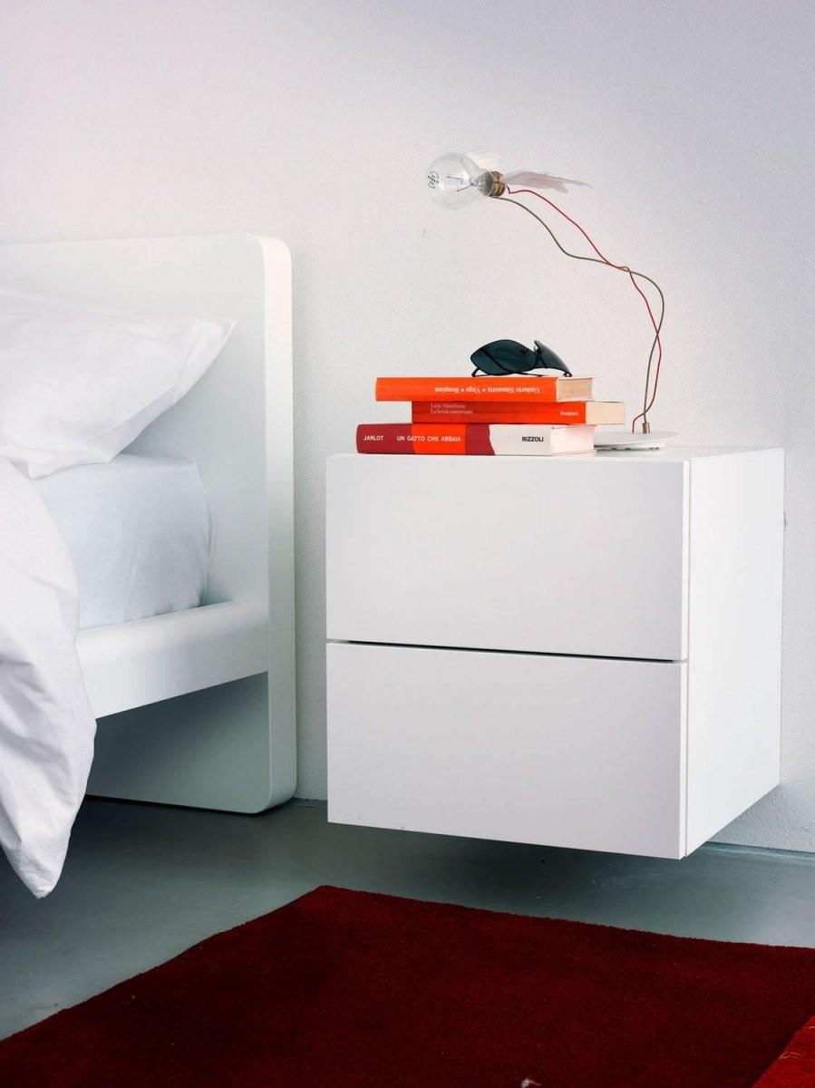 Schön Nachttisch Wandmontage Mehr  Bedrooms I Lovee In 2019 von Nachttisch Weiß Hochglanz Ikea Bild