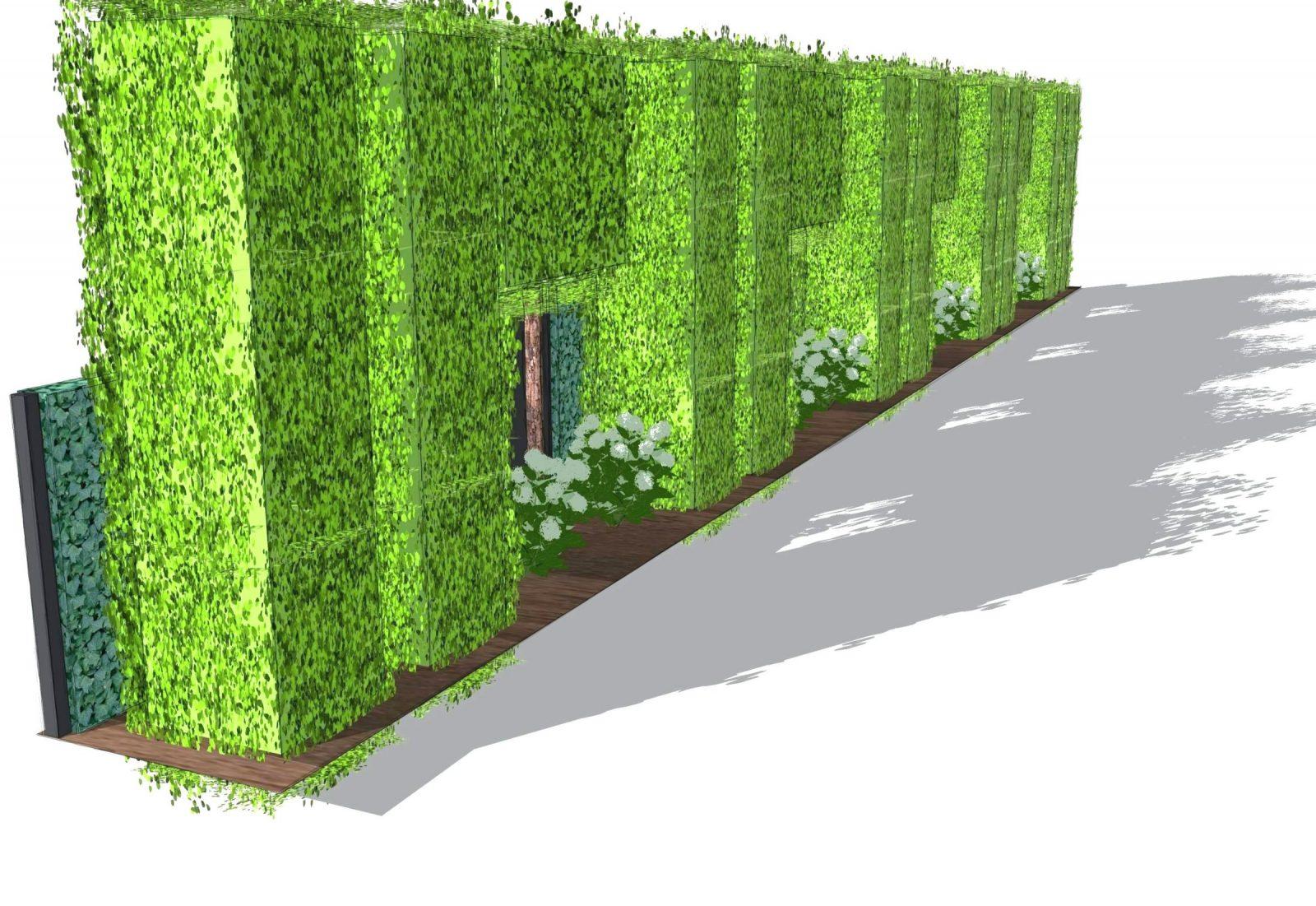 Schön Schiebegardine Leinentextur 0D Für Sichtschutz Balkon Bambus von Sichtschutz Efeu Am Laufenden Meter Bild