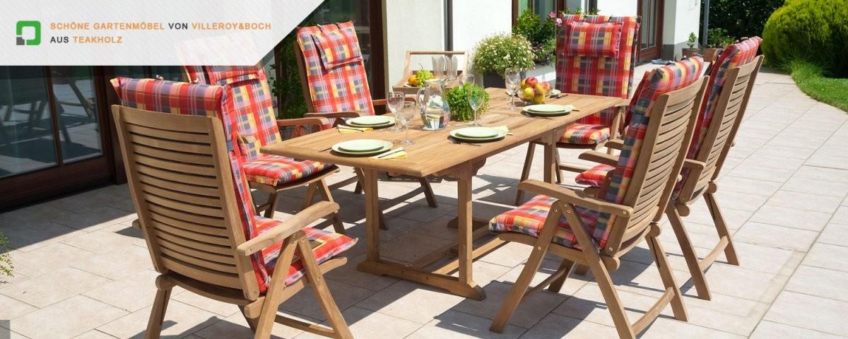 Schöne Gartenmöbel Von Villeroy  Boch Aus Teakholz von Villeroy Und Boch Gartenmöbel Bild
