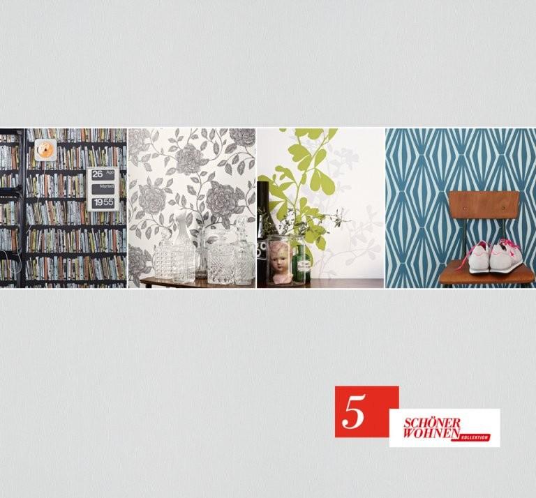 Schöner Wohnen 5  As Création Tapeten Ag von Schöner Wohnen Tapete Grün Bild
