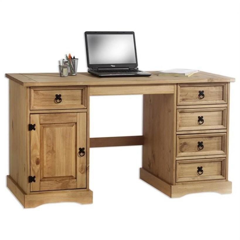 Schreibtisch Massiv Günstig Online Kaufen  Real von Schreibtisch Kiefer Gelaugt Geölt Photo