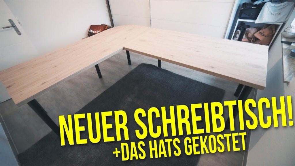 Schreibtisch Selber Bauen + Das Hats Gekostet  Projekt Diy Büro von Schreibtisch Selber Bauen Hornbach Bild