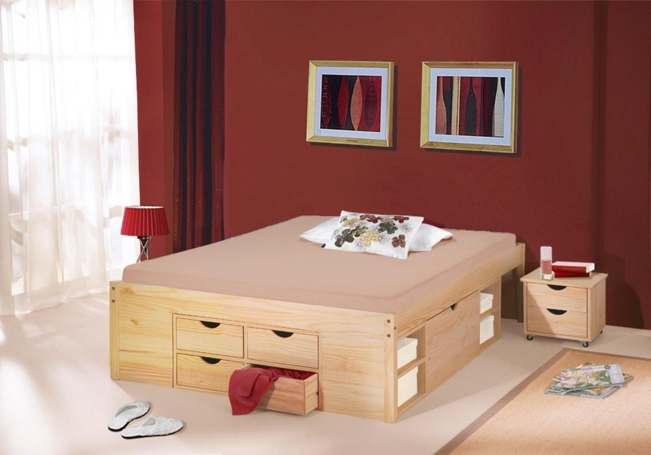 Schubkastendoppelbett Mit Viel Stauraum  Bett Oslo von Bett Mit Aufbewahrung 140X200 Bild