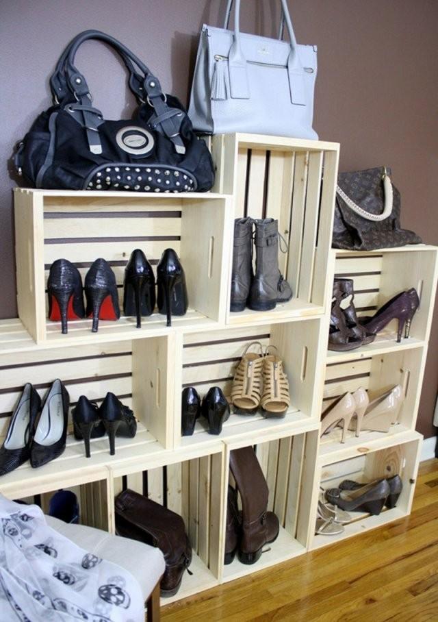 Schuhregal Selber Bauen – Coole Ideen Und Anleitungen von Schuhschrank Selber Bauen Weinkisten Photo