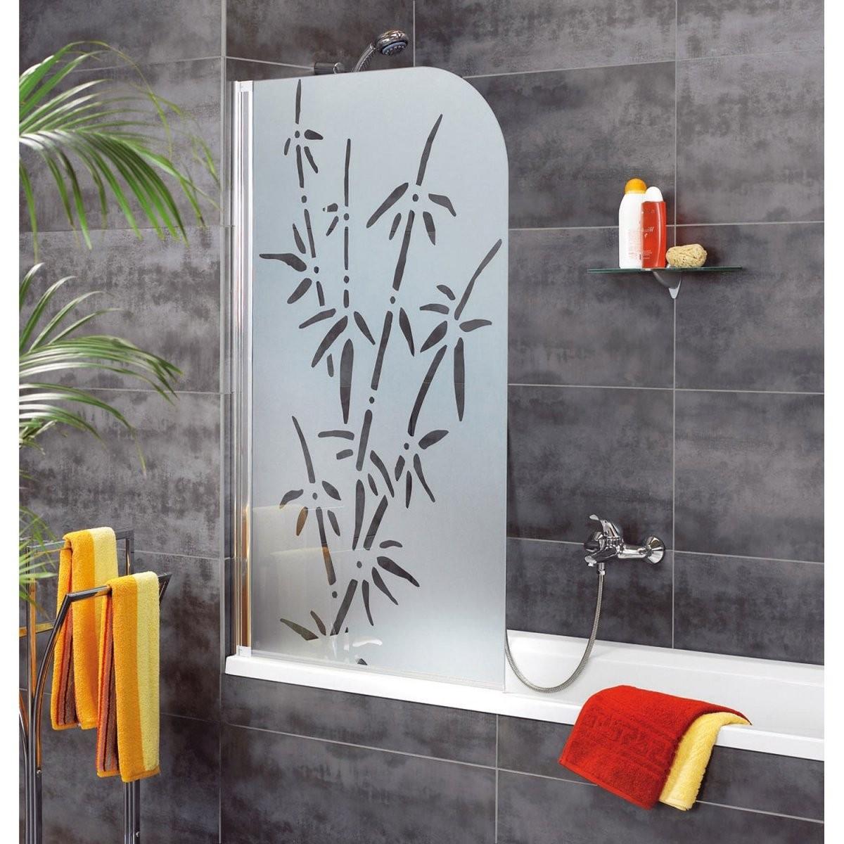Schulte Badewannenaufsatz 1Teilig Dekor Bamboo Chromoptik Kaufen von Duschwand Für Badewanne Obi Photo