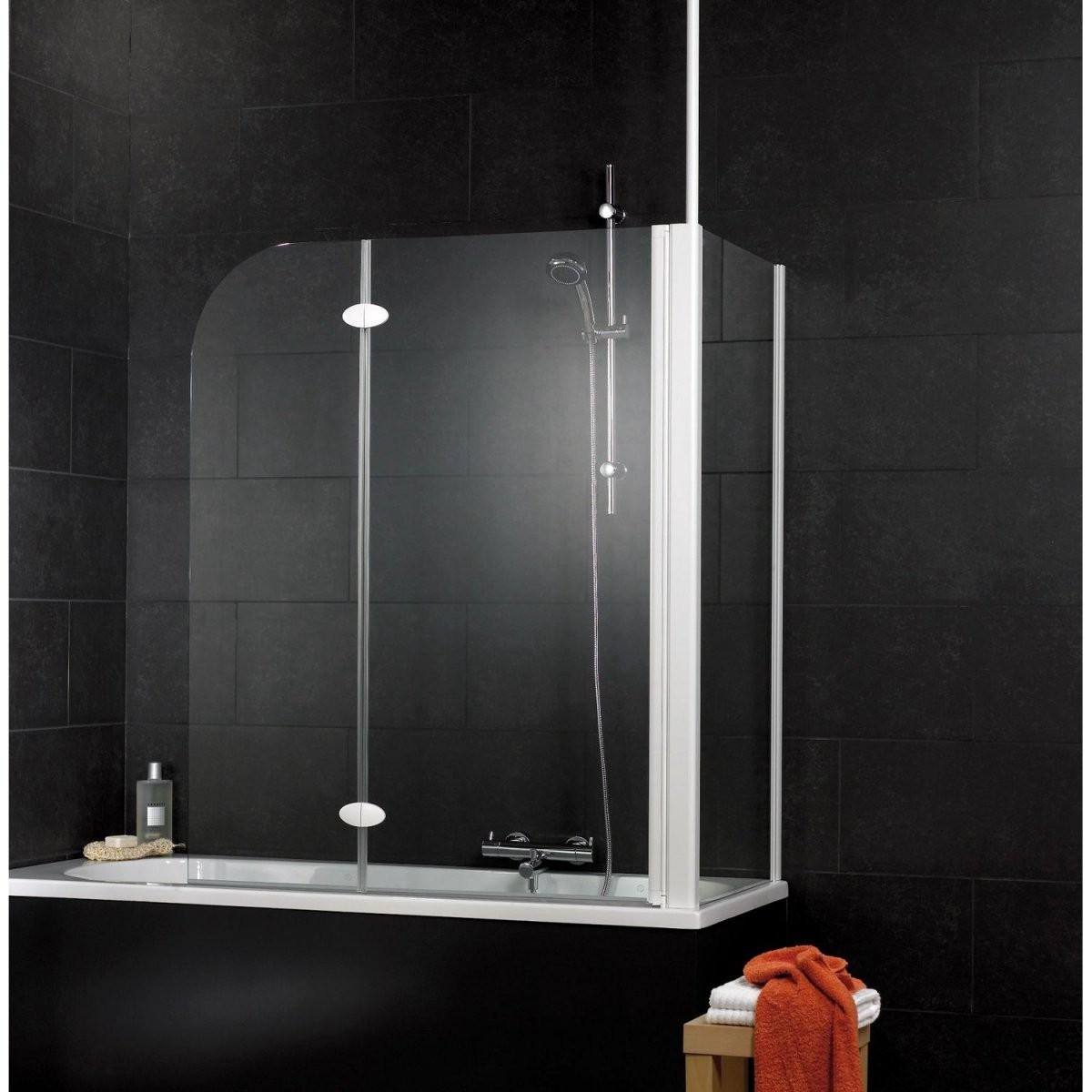 Schulte Badewannenaufsatz 2Teilig Mit Seitenwand 1145 Cm X 140 Cm von Duschwand Für Badewanne Obi Bild