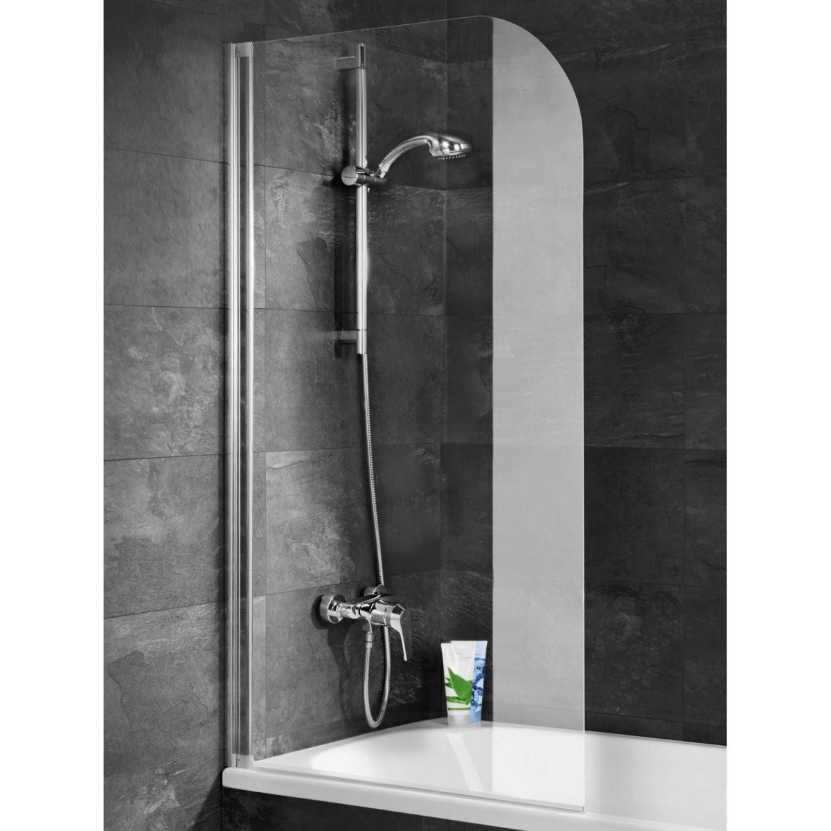 Schulte Badewannenaufsatz Ohne Bohren Echtglas Alu Natur 140 Cm X 80 von Duschwand Für Badewanne Obi Bild