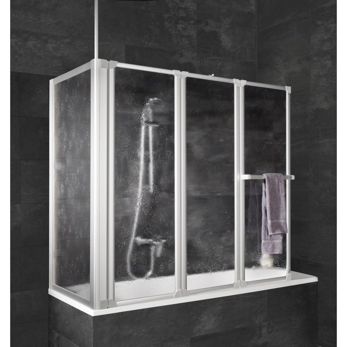 Schulte Wannenaufsatz Mit Handtuchhalter Und Seitenwand 140 Cm X 128 von Duschwand Für Badewanne Obi Photo