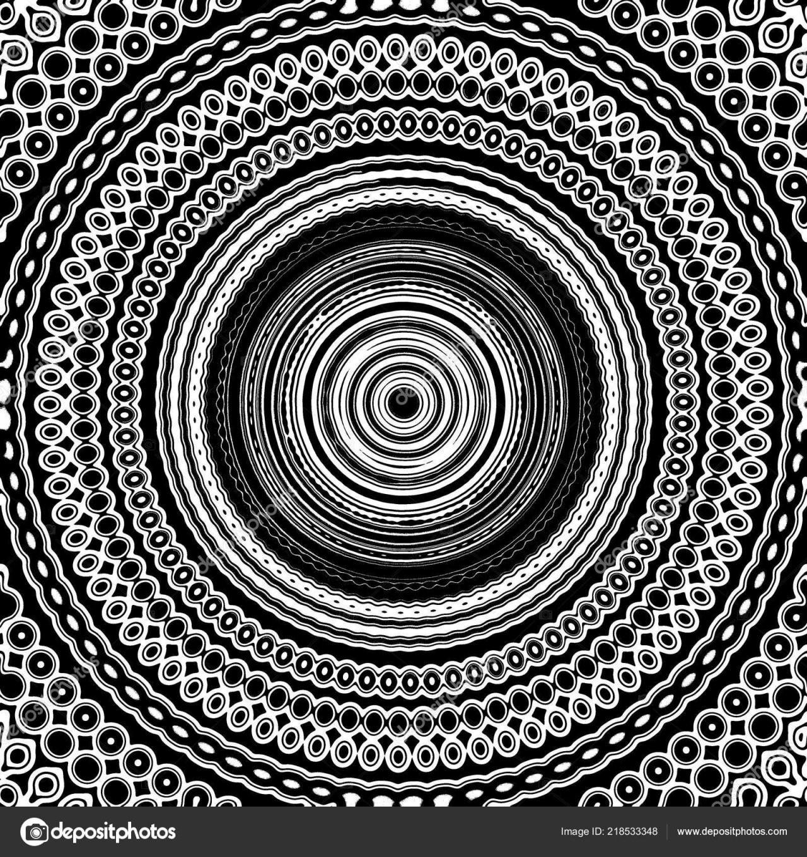 Schwarz  Weiß Mandala Nahtlose Muster Fliese Schwarz Und Weiß von Fliesen Schwarz Weiß Muster Bild