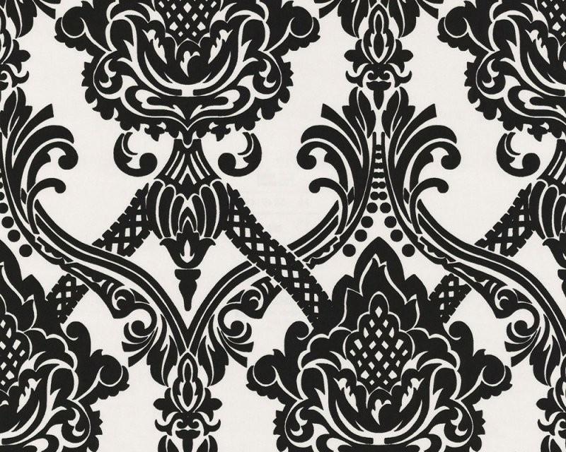 Schwarz Weiß Tapete Online Kaufen von Barock Tapete Schwarz Weiß Photo