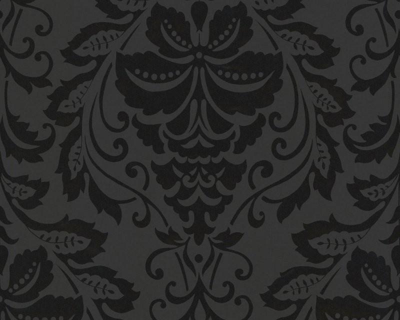 Schwarz Weiß Tapete Online Kaufen von Schwarze Tapete Mit Muster Photo