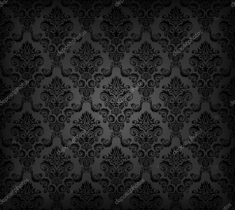 Schwarze Nahtlose Tapete Muster — Stockvektor © Vryabinina 7160969 von Schwarze Tapete Mit Muster Photo