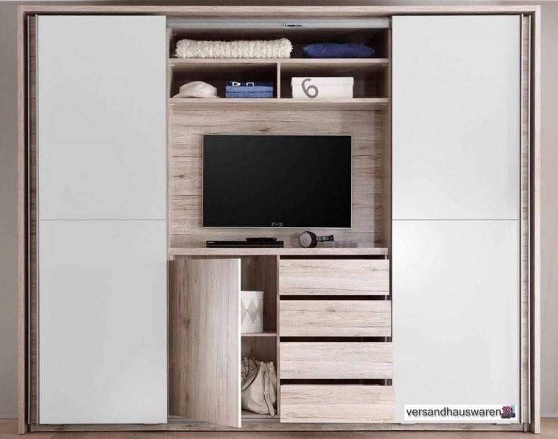 Schwebetürenschrank Kleiderschrank Schrank Mit Tvfach von Kleiderschrank Mit Tv Fach Bild