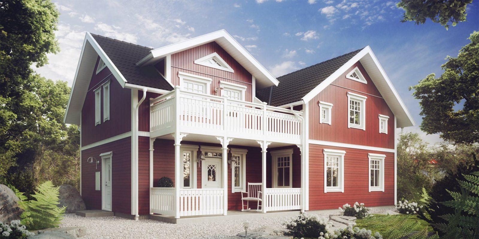 Schwedenhaus  Eksjöhus Ab von Amerikanische Häuser In Deutschland Bauen Photo