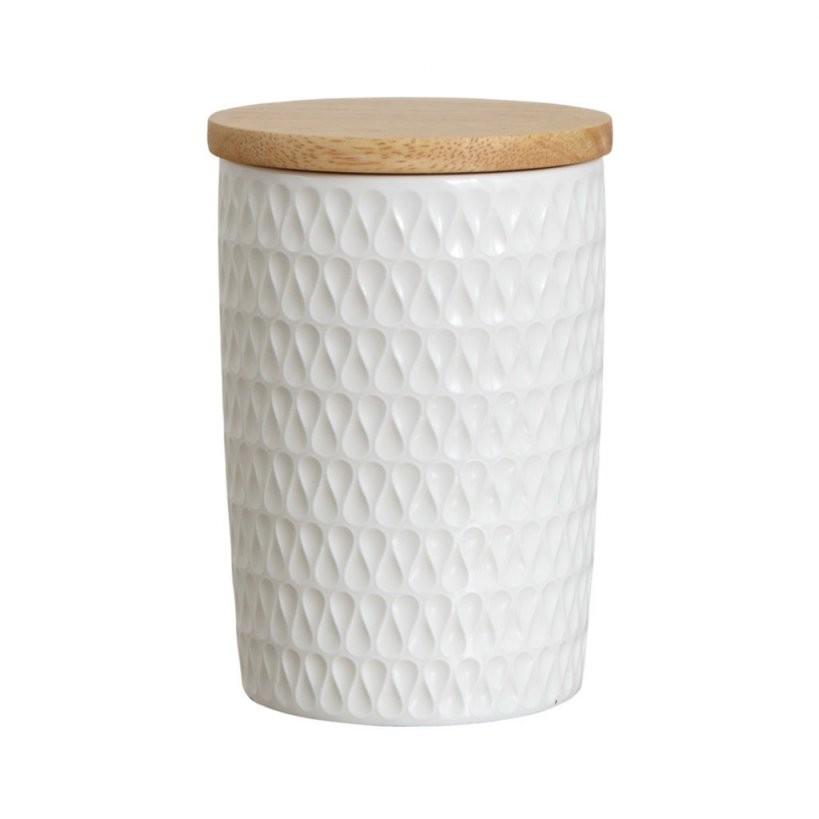 Schwedische Deko Lottavorratsdose Mit Holzdeckel  Nordic Butik von Vorratsdosen Mehl Zucker Salz Keramik Bild