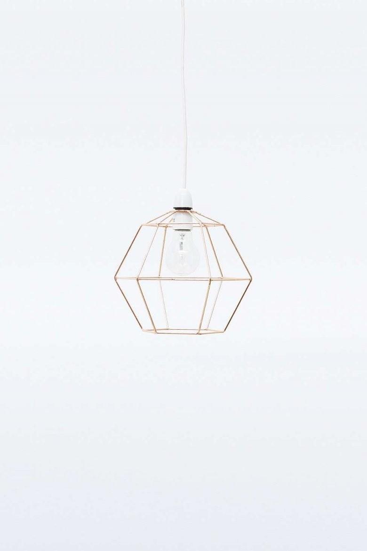 Sechseckiger Lampenschirm Im Drahtdesign  Lampen  Lampen Draht von Lampenschirm Drahtgestell Selber Machen Bild