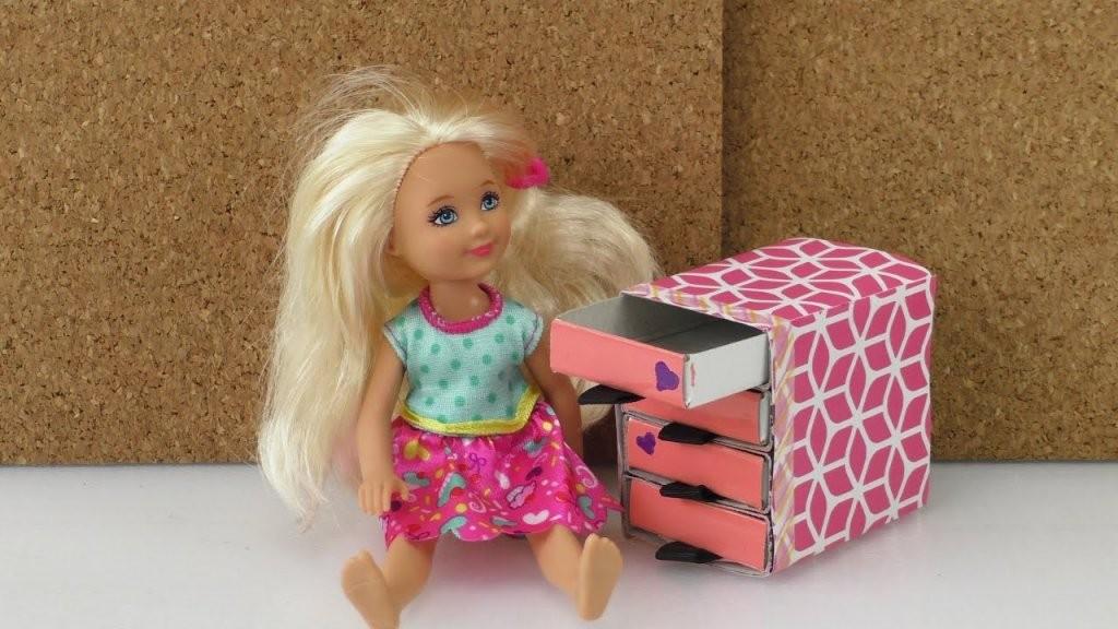 Selber Basteln  Komode Für Barbie Sylvanian Families Puppenhaus Aus von Barbie Bett Selber Bauen Photo